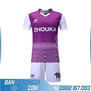 áo bóng đá tự thiết kế màu trắng tím HZ 208