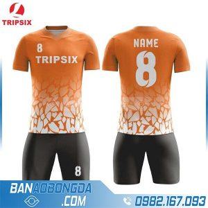 áo bóng đá không logo tự thiết kế HZ 214 màu cam