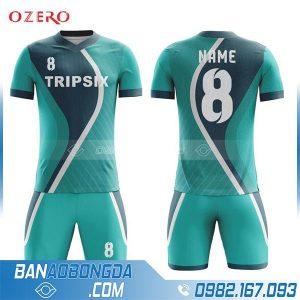 áo đá bóng không logo tự chế HZ 215 màu xanh lá