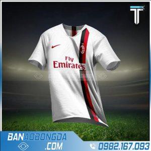 áo bóng đá ac milan 2021 chế màu trắng hz 216