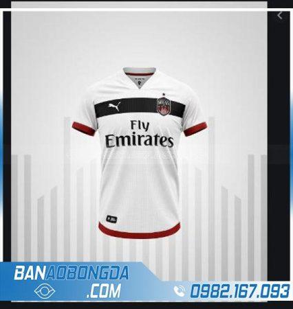 áo Ac Milan tự thiết kế màu trắng hz 217 cực đẹp