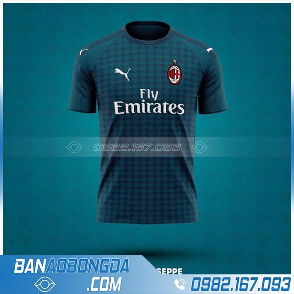 áo bóng đá câu lạc bộ AC Milan tự chế màu xanh lý HZ 218