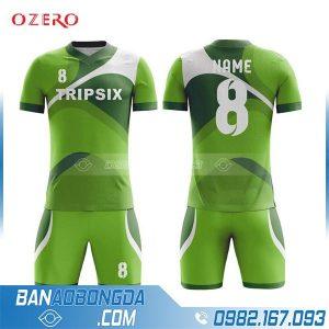 áo bóng đá tự thiết kế HZ 222 màu xanh lá