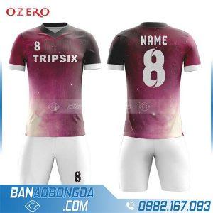 Áo bóng đá tự thiết kế HZ 223 màu huyết dụ