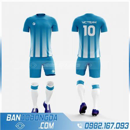thiết kế áo bóng đá không lgo màu xanh da trời HZ 224
