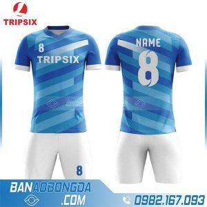 áo bóng đá màu xanh dương chế HZ 227
