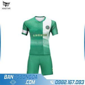 Áo bóng đá không logo may theo yêu cầu HZ 229 màu xanh lá