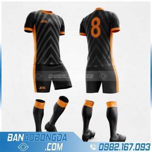 áo bóng đá không logo màu đen tự chế HZ 230