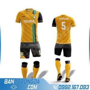 áo bóng đá tự chế HZ 231 màu vàng xịn và đẹp
