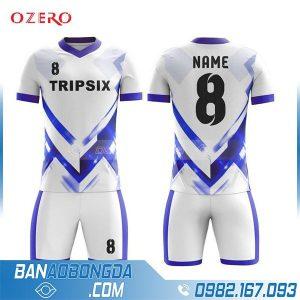áo bóng đá tự thiết kế màu trắng HZ 233 đẹp mắt