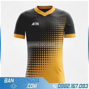 áo bóng đá tự thiết kế HZ 235 màu đen