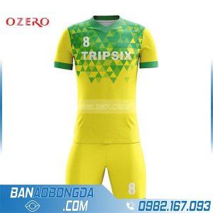 áo bóng đá may theo yêu cầu HZ 236 màu vàng đẹp và độc