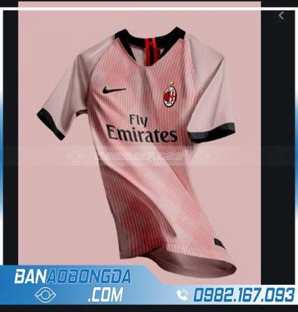 áo bóng đá ac milan tự thiết kế màu hồng hz 239
