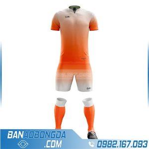 áo bóng đá chế HZ 240 màu cam đẹp và độc