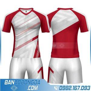 áo bóng đá không logo màu đỏ HZ 241