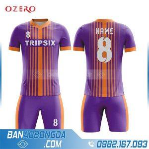 áo bóng đá tự chế màu tím HZ 244 đẹp và độc