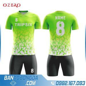 áo bóng đá tự thiết kế HZ 245 màu xanh chuối đẹp