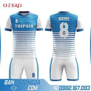 áo bóng đá tự thiết kế HZ 246 màu trắng