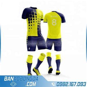 áo đấu bóng đá thiết kế riêng HZ 248 màu vàng đẹp