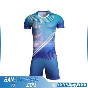 áo bóng đá thiết kế theo yêu cầu HZ 249 màu xanh da trời