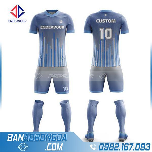 Áo bóng đá theo yêu cầu mã HZ 250 màu xám mới