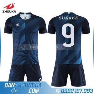 áo bóng đá chế HZ 251 màu tím than đẹp và độc