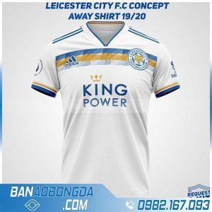 áo bóng đá Leicester CIty tự chế HZ 253 màu trắng