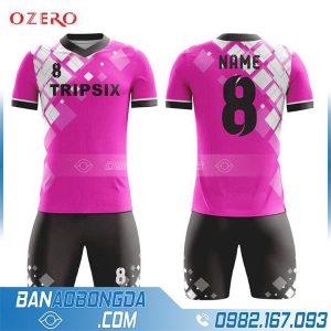 áo bóng đá chế màu hồng hz 257 rẻ đẹp