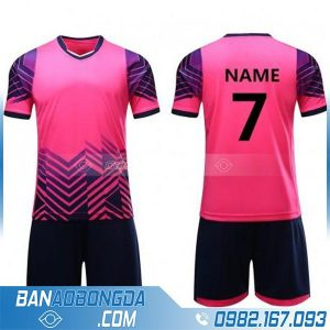 áo bóng đá không logo tự thiết kế màu hồng HZ 258 đẹp mắt