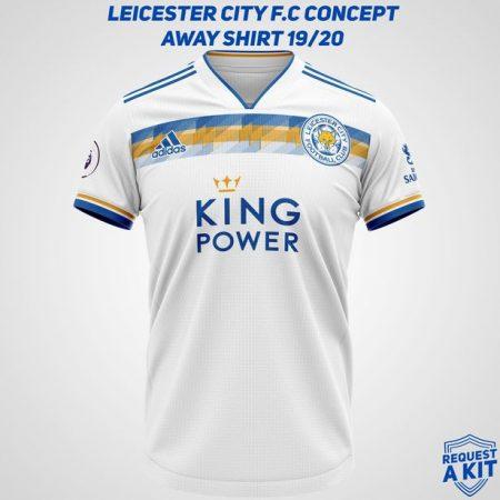 áo leicster city tự chế màu trắng