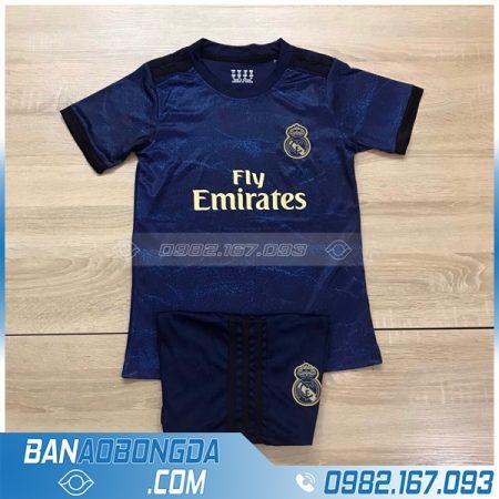áo Real Madrid trẻ em tím than