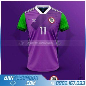 áo bóng đá tự thiết kế màu tím