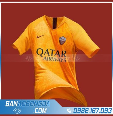 áo As Roma tự chế màu cam