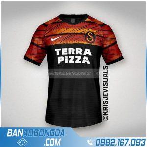 áo bóng đá tự thiết kế màu đen