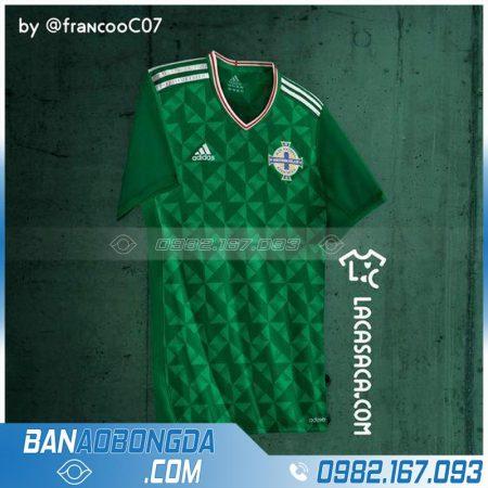 Áo bóng đá chế màu xanh lá đẹp