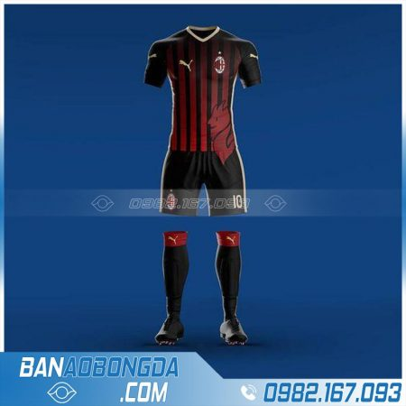 Áo Ac Milan tự thiết kế đẹp mắt
