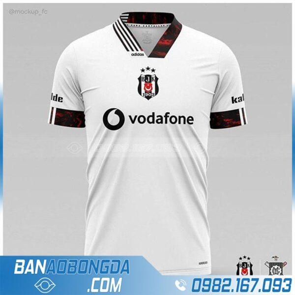 áo bóng đá tự thiết kế màu trắng đẹp