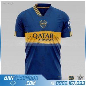 Áo bóng đá tự chế màu xanh dương đẹp