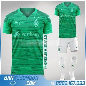 áo bóng đá tự thiết kế màu xanh lá đẹp