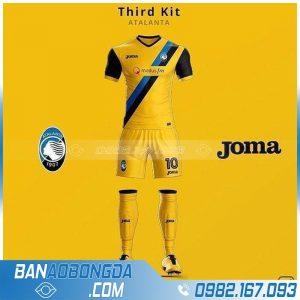 Áo bóng đá tự thiết kế màu vàng đẹp