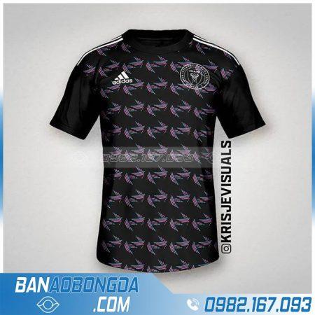 Áo bóng đá màu đen may theo yêu cầu