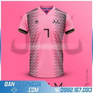 áo bóng đá chế màu hồng đẹp