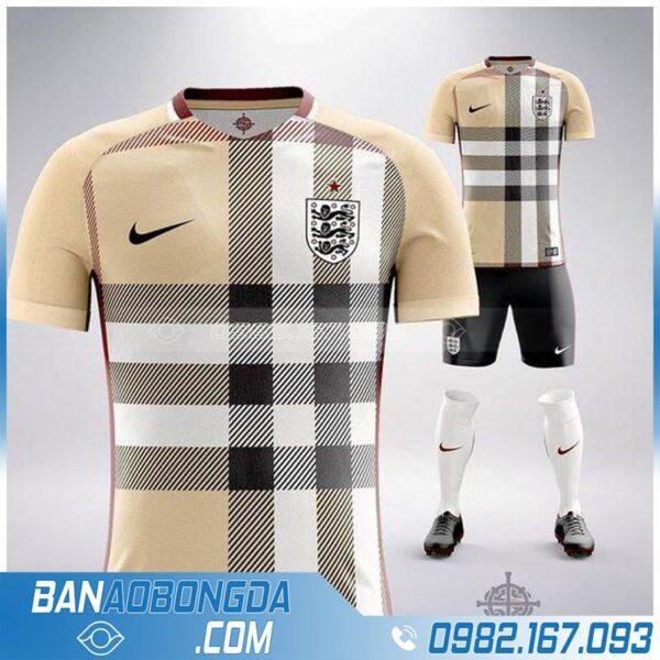 áo bóng đá đội tuyển Anh thiết kế đẹp