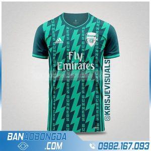 áo Arsenal chế màu xanh đẹp