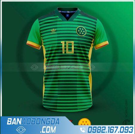 Áo bóng đá tự thiết kế màu xanh lá