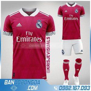 Áo Real Madrid tự thiết kế màu đỏ đẹp