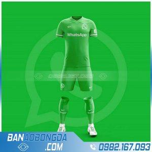 áo bóng đá màu xanh lá đẹp