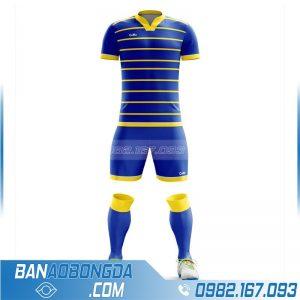 áo bóng đá không logo tự thiết kế màu xanh dương