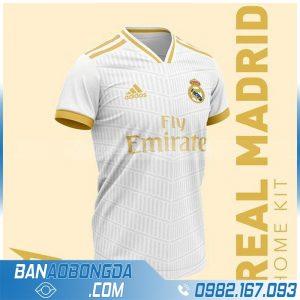 áo bóng đá real madrid màu trắng đẹp