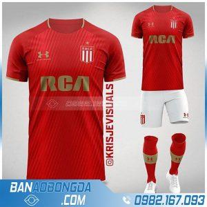 áo bóng đá tự thiết kế màu đỏ đẹp